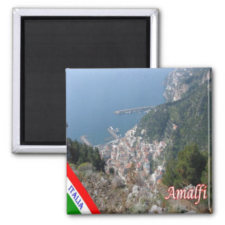 IT - Italy - Amalfi - View from Above Square Magnet
