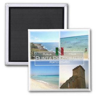 IT# Italy - Apulia - Punta Prosciutto - Square Magnet