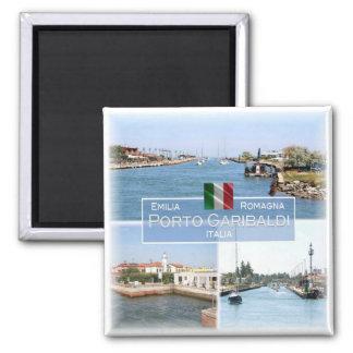 IT Italy # Emilia Romagna - Porto Garibaldi - Square Magnet
