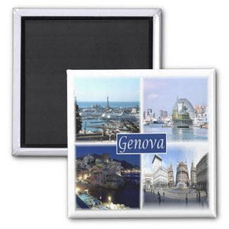 IT * Italy - Genova Genoa Square Magnet