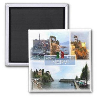 IT Italy # Liguria -   Nervi - Square Magnet