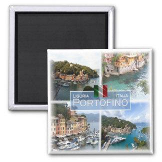 IT Italy # Liguria -  Portofino - Square Magnet