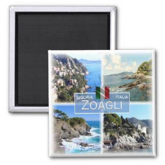 IT Italy # Liguria -  Zoagli - Square Magnet