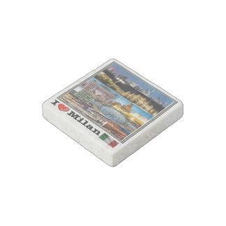 IT Italy - Milan - I Love Mosaic - Stone Magnets
