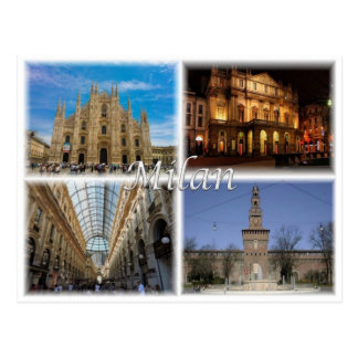 IT Italy - Milan Milano - Lombardy - Postcard