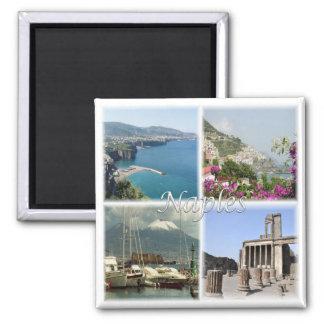 IT * Italy - Naples Sorrento Pompei Amalfi Italy Square Magnet