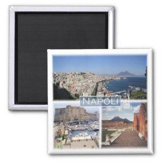 IT * Italy - Napoli - Vesuvio Square Magnet