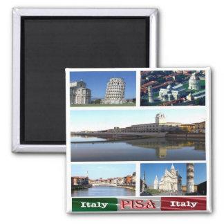 IT - Italy - Pisa - Collage Mosaic Square Magnet