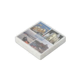 IT Italy - Puglia - Bari - Harbor - Stone Magnets