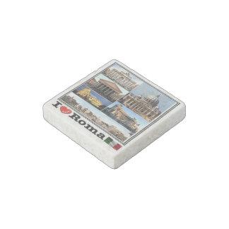 IT Italy - Roma - I LOVE Mosaic - Colosseo - Stone Magnets