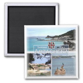 IT # Italy - Sardinia - Arzachena - Square Magnet