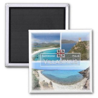 IT #   Italy - Sardinia - Villasimius  - Square Magnet