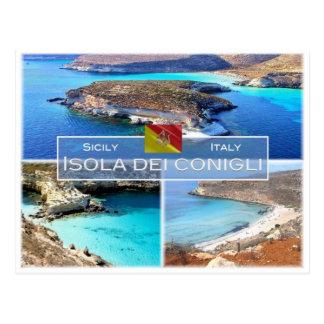IT Italy - Sicily - Isola dei Conigli - Postcard