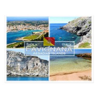 IT Italy - Sicily - Isole Egadi - Favignana - Postcard