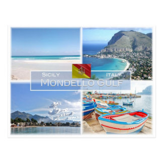 IT Italy - Sicily -  Mondello Gulf - Postcard