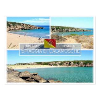 IT Italy - Sicily - Spiaggia di Calamosche - Postcard