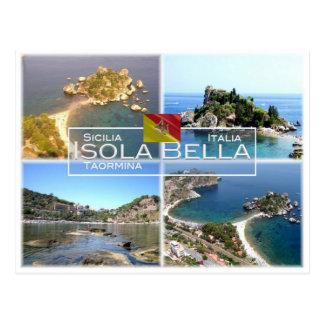 IT Italy - Sicily - Taormina - Isola Bella - Postcard