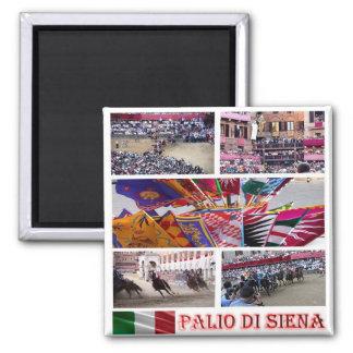 IT - Italy - Siena-Il Palio-Mosaic Magnet