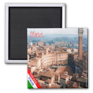 IT - Italy - Siena - Piazza Del Campo Aerial View Magnet