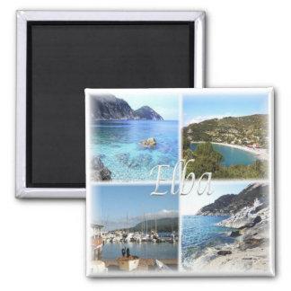 IT Italy # Tuscany - Elba - Square Magnet