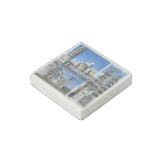 IT Italy - Tuscany - The Leaning Tower Of Pisa Stone Magnets