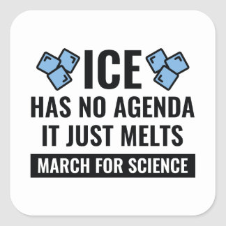 It Just Melts Square Sticker