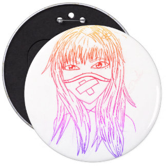 it livens up face 6 inch round button