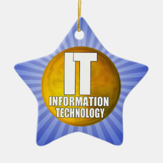 IT LOGO - INFORMATION TECHNOLOGY CERAMIC ORNAMENT