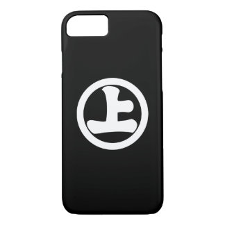 It lowers to the circle, on iPhone 8/7 case