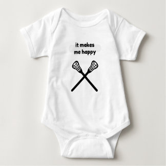 It Makes Makes Me Happy-Lacrosse Baby Bodysuit