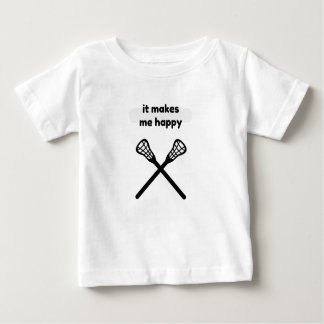 It Makes Makes Me Happy-Lacrosse Baby T-Shirt