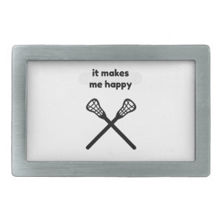 It Makes Makes Me Happy-Lacrosse Belt Buckle