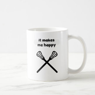 It Makes Makes Me Happy-Lacrosse Coffee Mug