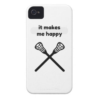 It Makes Makes Me Happy-Lacrosse iPhone 4 Cover