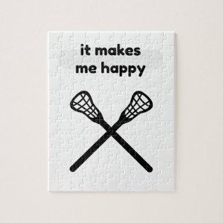 It Makes Makes Me Happy-Lacrosse Jigsaw Puzzle