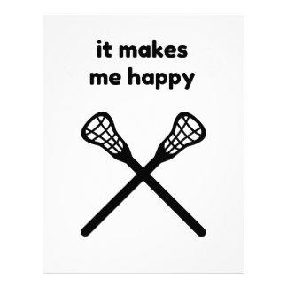 It Makes Makes Me Happy-Lacrosse Letterhead