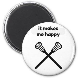 It Makes Makes Me Happy-Lacrosse Magnet