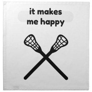 It Makes Makes Me Happy-Lacrosse Napkin
