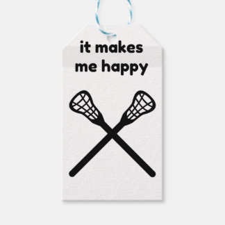 It Makes Makes Me Happy-Lacrosse Pack Of Gift Tags