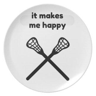 It Makes Makes Me Happy-Lacrosse Plate
