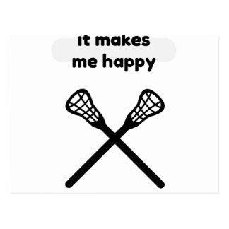 It Makes Makes Me Happy-Lacrosse Postcard