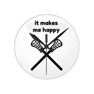 It Makes Makes Me Happy-Lacrosse Wallclock