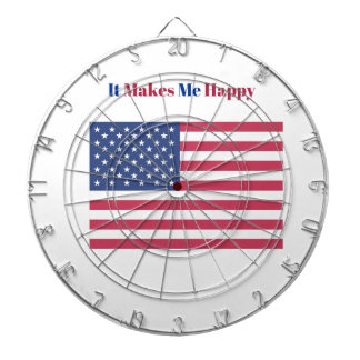 It Makes Me happy- American flag Dartboard
