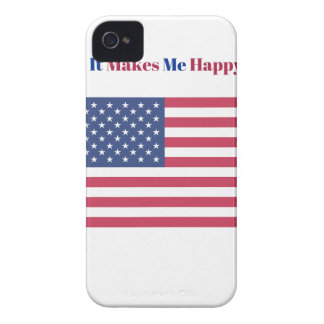 It Makes Me happy- American flag iPhone 4 Case