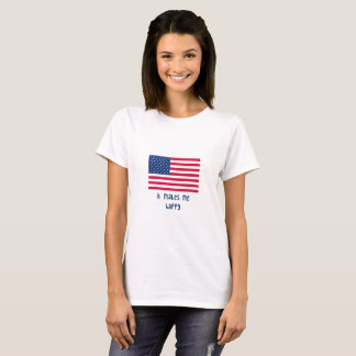 it makes me happy-American Flag T-Shirt