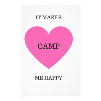 It Makes Me Happy- Camp Personalized Stationery