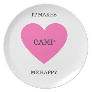 It Makes Me Happy- Camp Plates