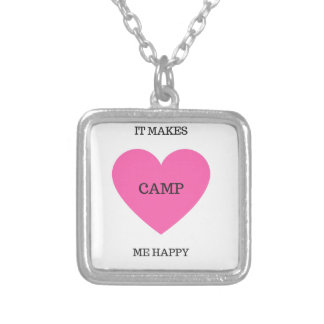 It Makes Me Happy- Camp Silver Plated Necklace