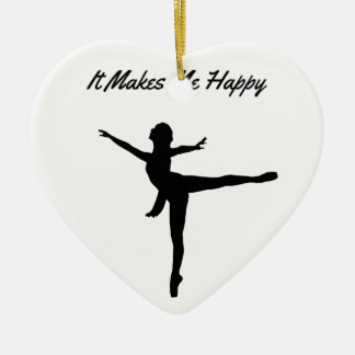 It Makes Me Happy Ceramic Heart Ornament