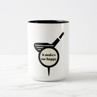 It Makes Me Happy-Golf Mug